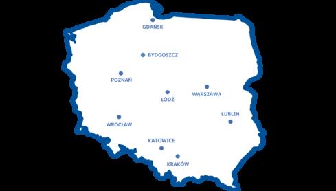 Biura Ekspansji Lidl Polska Mapa